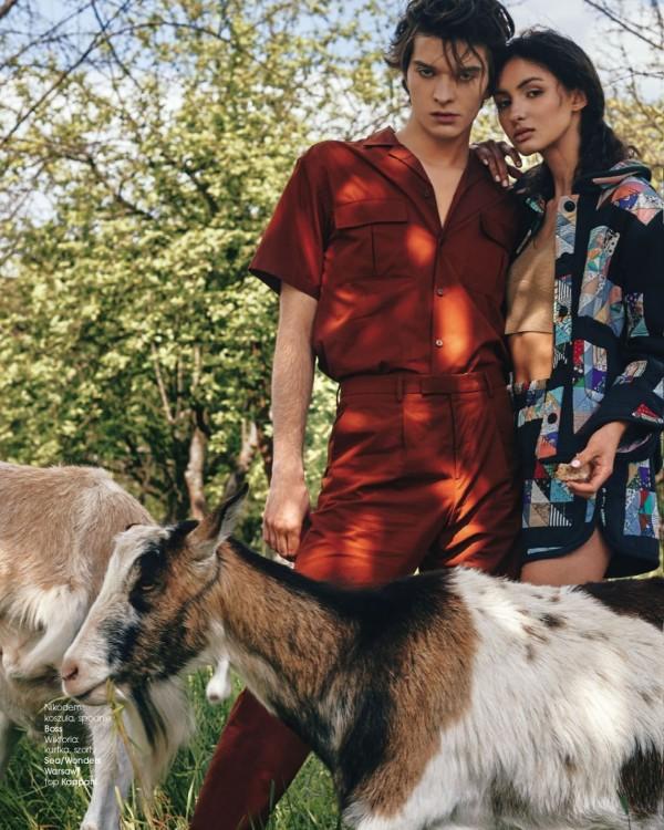 Wiktoria Łempicka i Nikodem Jastrzębski w Fashion Magazine